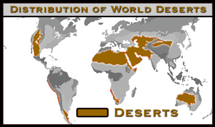 Desert Distribution Map