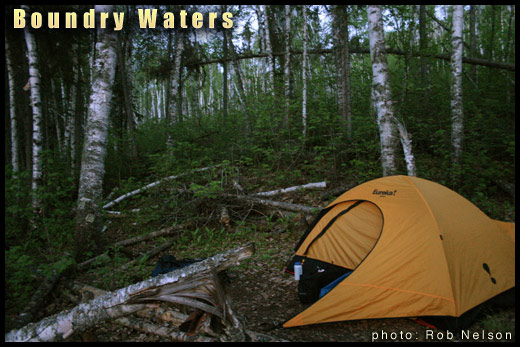 boundry waters tent Minnesota